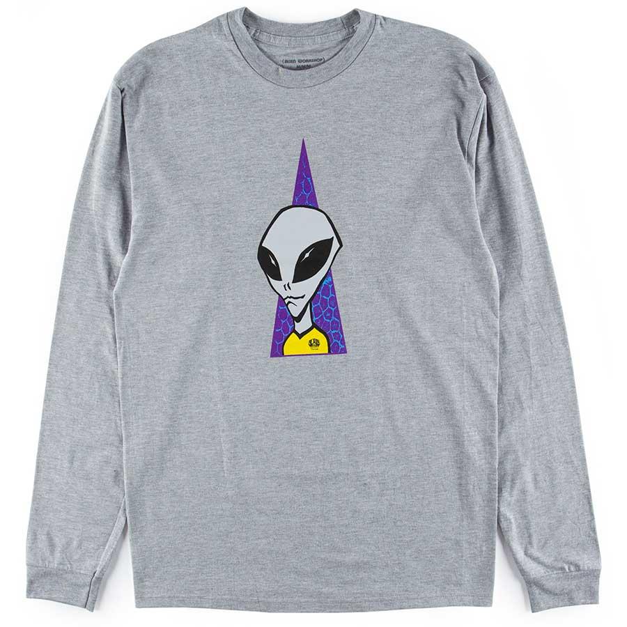 Alien Workshop Visitor Long Sleeve T Shirt Heather Gray