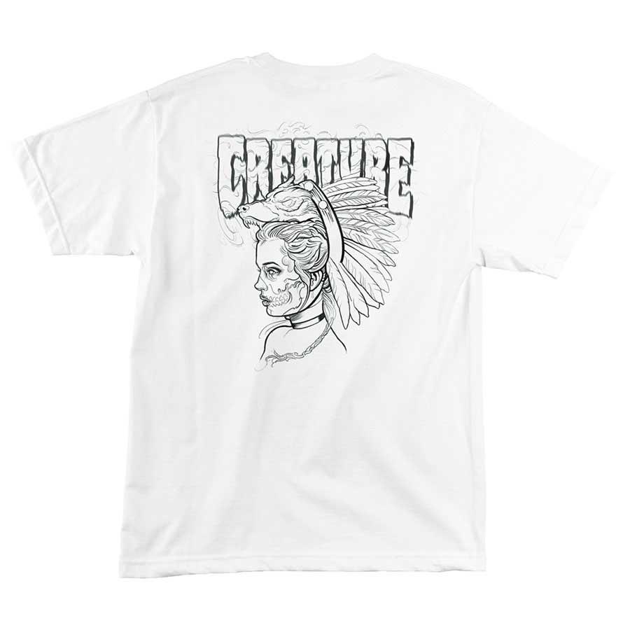CREATURE Skateboards Runes White T-Shirt