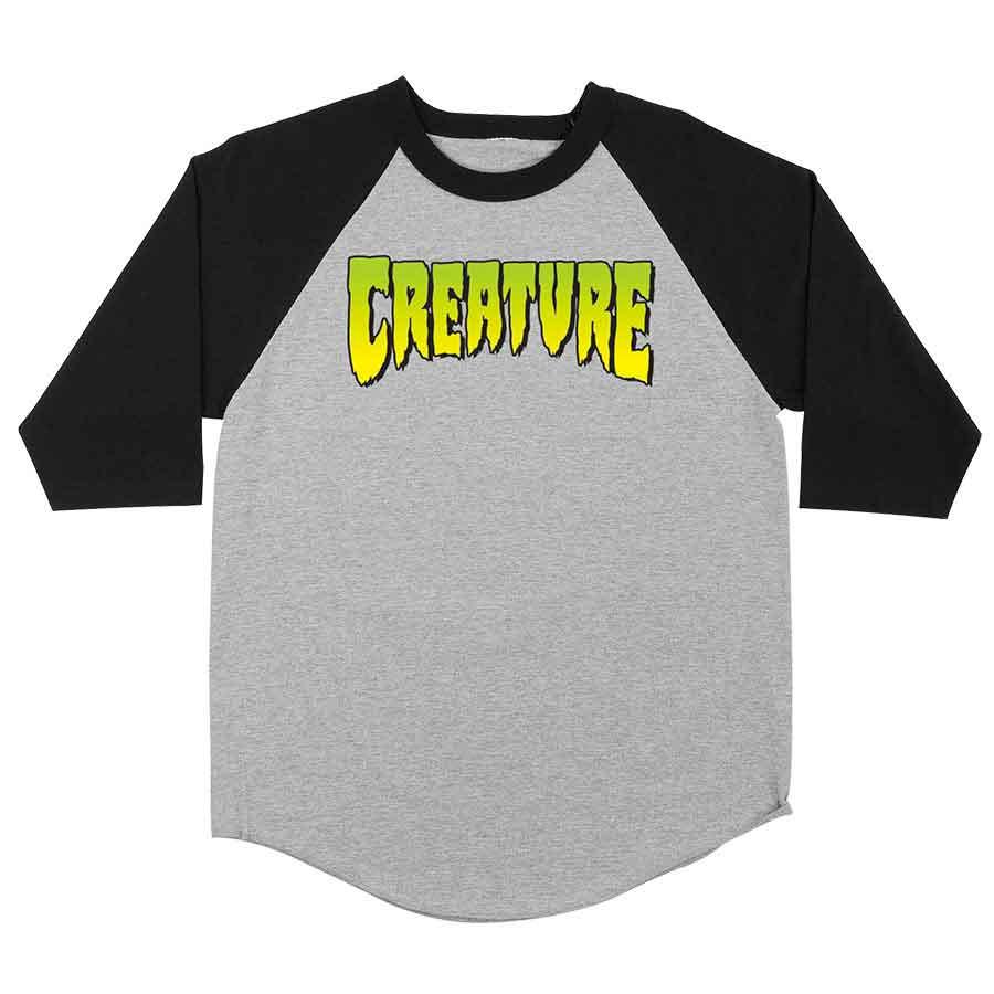 Creature Skateboard Shirt Logo Black
