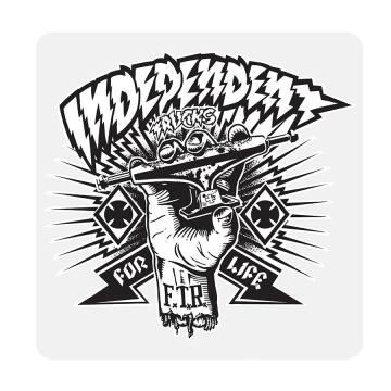 Independent Trucks Skateboard Sticker Rot Weiß 7x10cm Rechteckig