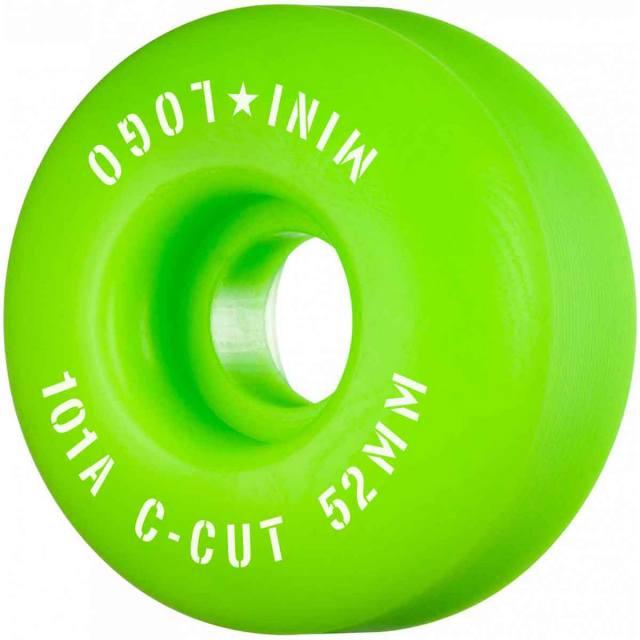 Mini Logo Skateboard Wheels 52mm C-Cut 101A Red