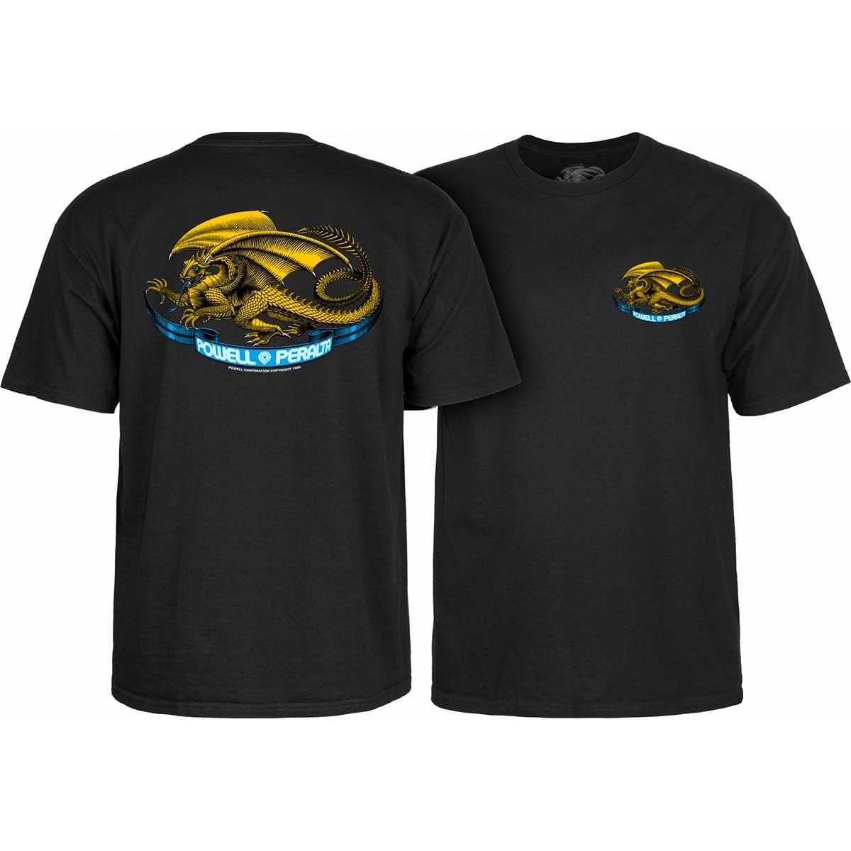 Powell Peralta Oval Dragon T-Shirt MEDIUM Powder Blue Size