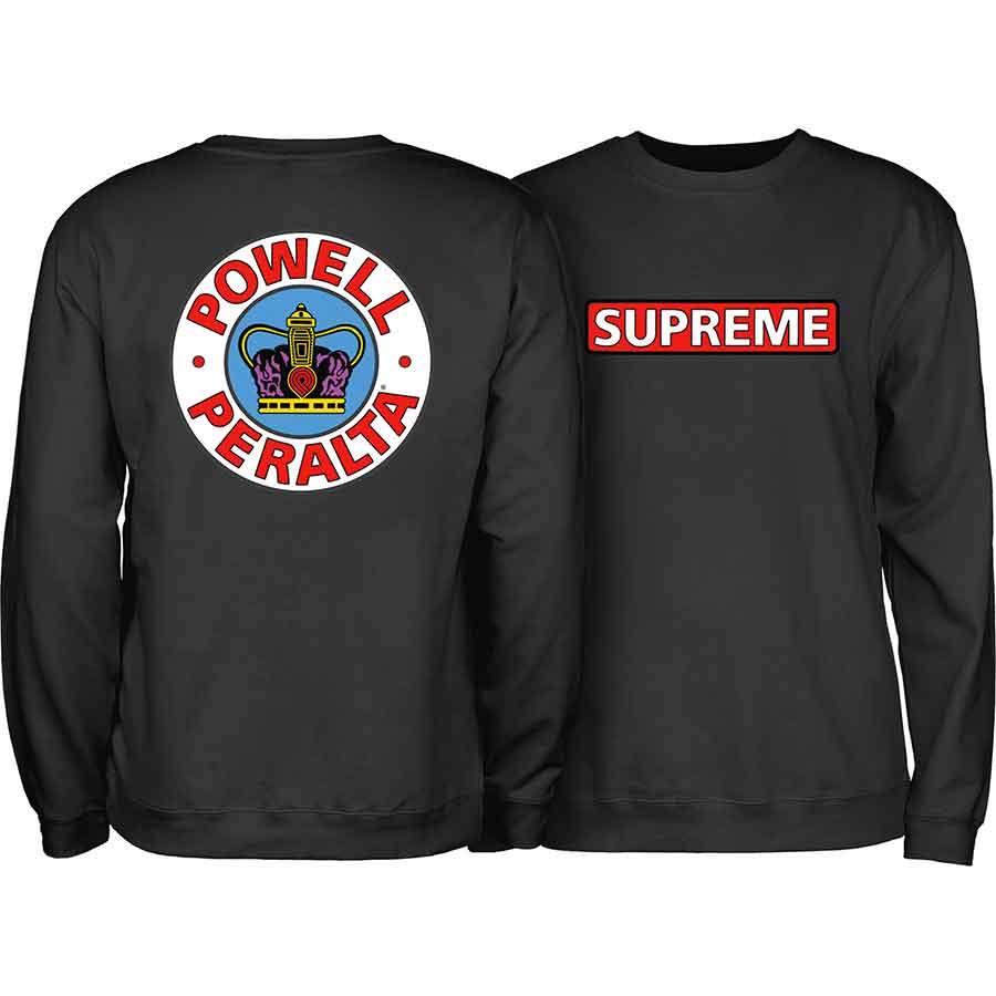 Powell Peralta Skateboard Hoodie Supreme Black