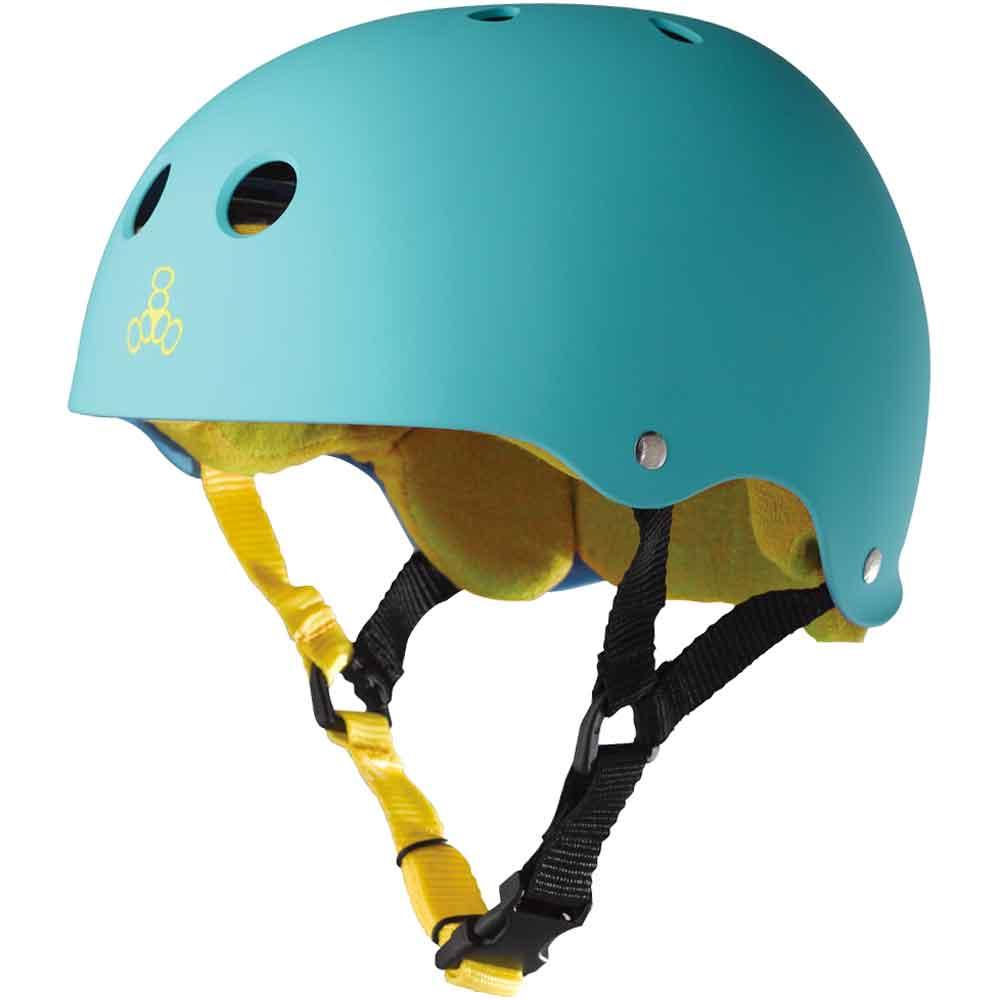 Neon Fuschia Glossy Large Triple Eight Sweatsaver Liner Skateboarding Helmet