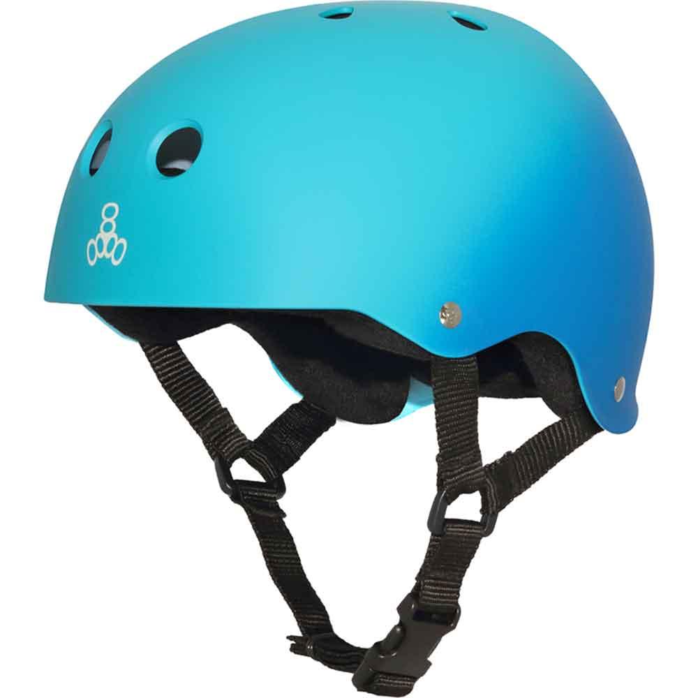 Triple 8 Sweatsaver Helmet-Black Blue-Small
