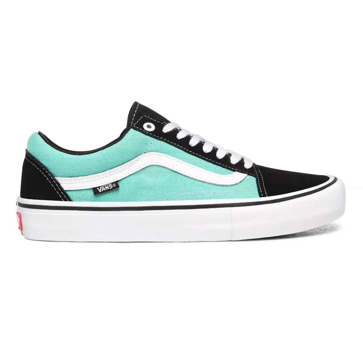 captura cuatro veces masilla  Vans Old Skool Pro Shoes - Black/Jade | SoCal Skateshop