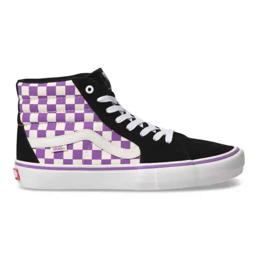 Vans SK8 HI Pro Shoes (Checkerboard) BlackDewberry