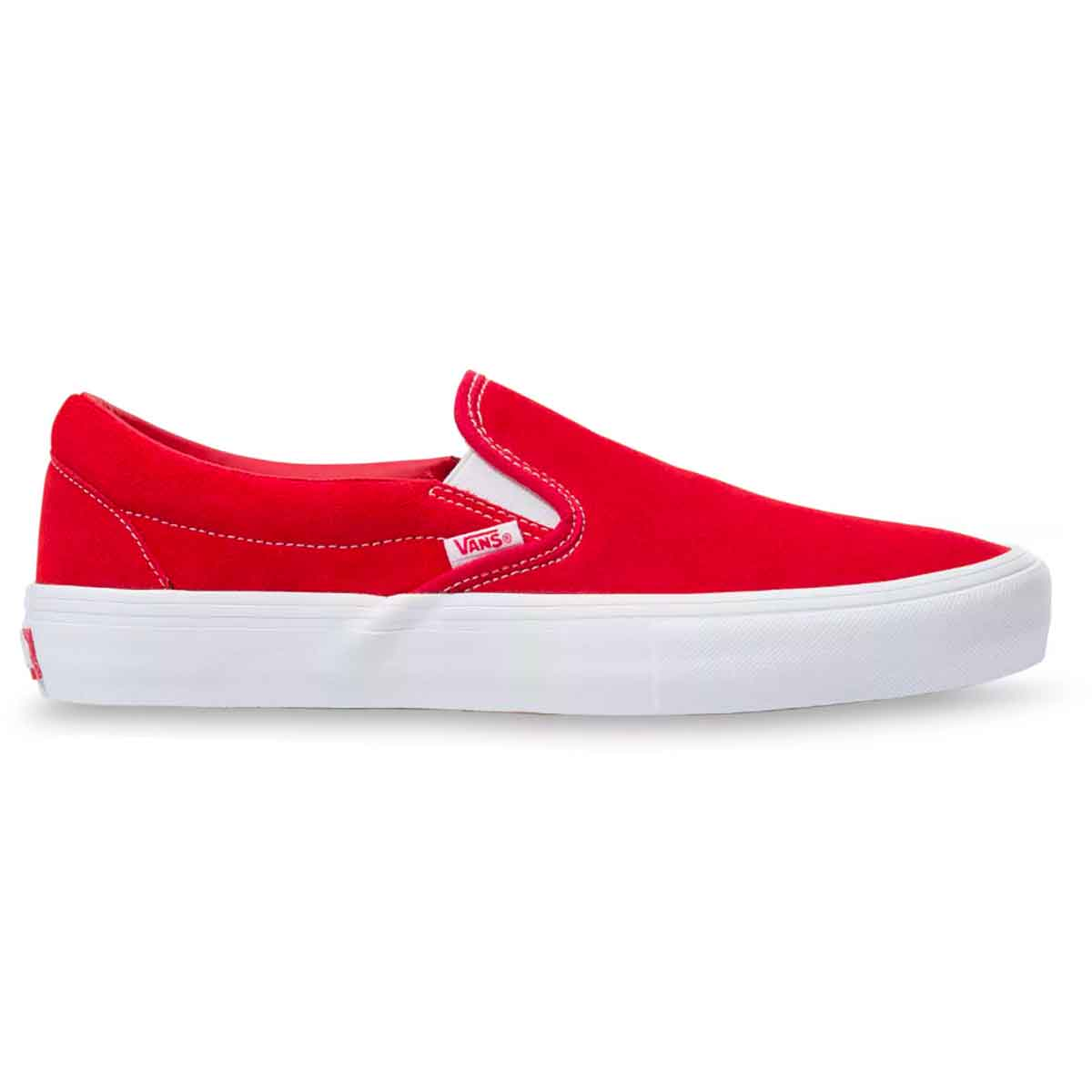 Vans Slip On Pro Suede Shoes - Red