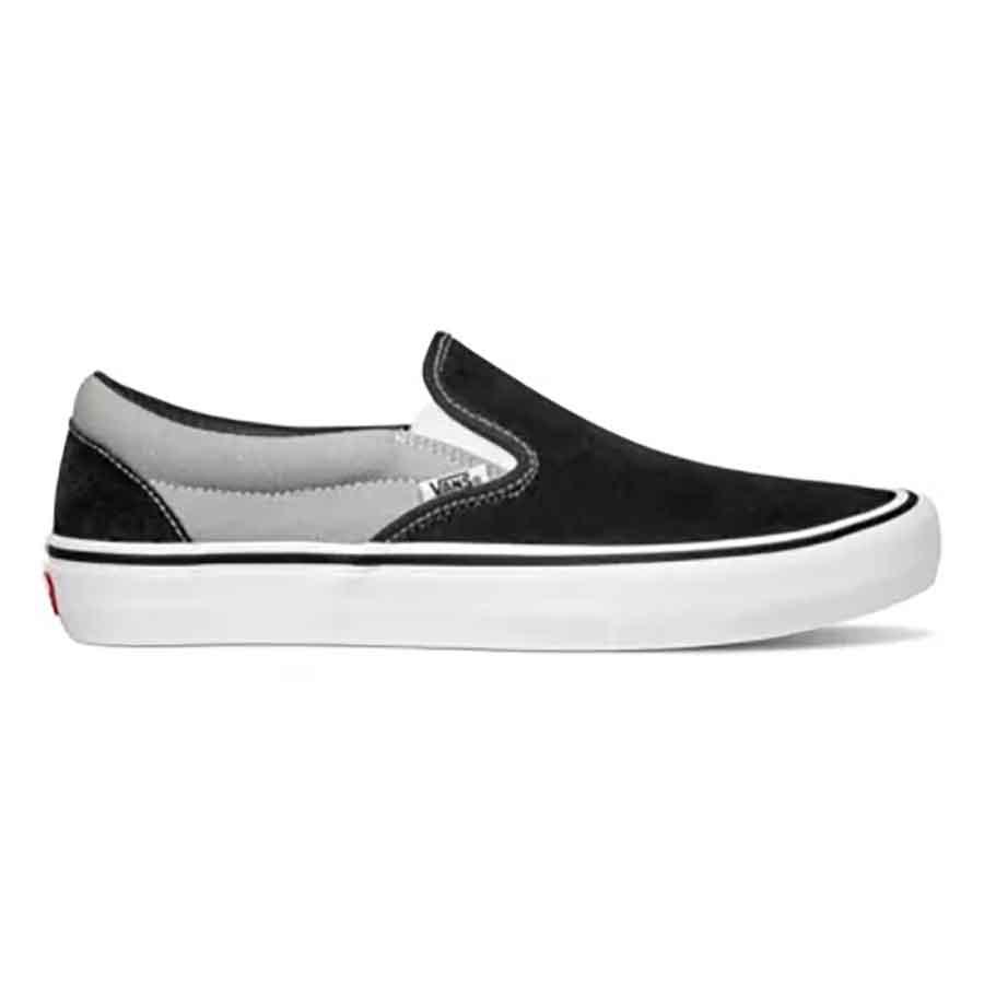 Vans Slip On Pro Shoes - (Nation) Black/Silver
