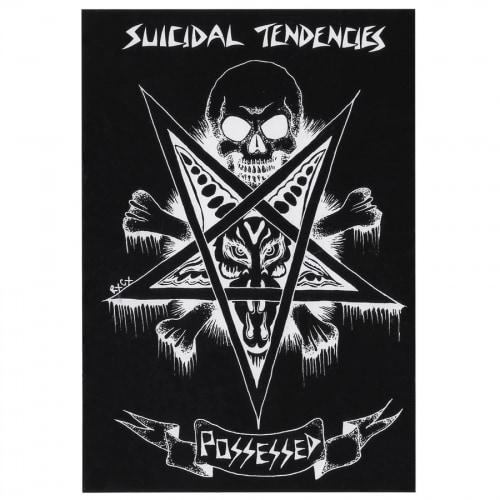 "Suicidal Tendencies EAT Skull Patch Skateboard 3/"""