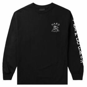 Hard Luck Mfg-Lady G Manga larga Camiseta-Borgoña-S M L XL-Nuevo Patineta