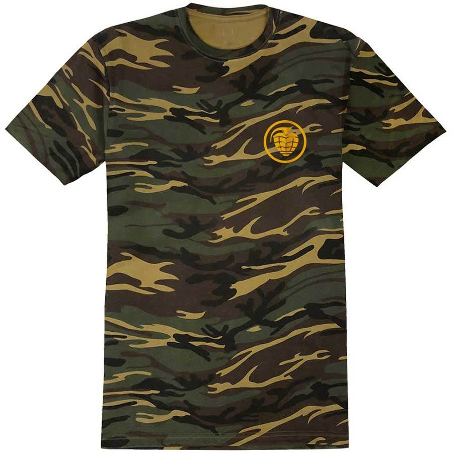 Thunder Trucks Grenade Premium T-Shirt - Camo/Yellow ...