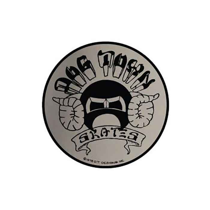"PRIMITIVE APPAREL Skate Sticker Circle Logo 3.75/"" skateboards helmets decal"